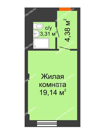 Студия 26,83 м² - Апарт-Отель Гордеевка