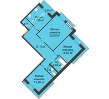 3 комнатная квартира 89,1 м², Жилой дом: г. Дзержинск, ул. Кирова, д.12 - планировка