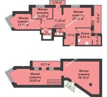 5 комнатная квартира 147,97 м², ЖК Юбилейный - планировка