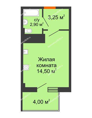 Студия 21,85 м² в ЖК Грин Парк, дом Литер 1