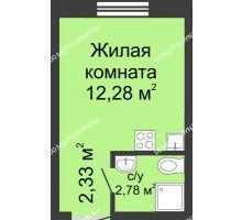 Студия 17,39 м² в ЖК Бурнаковский, дом № 39 - планировка