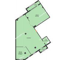 1 комнатная квартира 212,4 м², ЖК ROLE CLEF - планировка