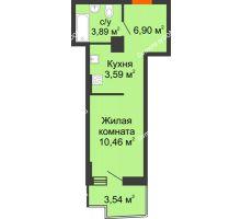 Студия 26,06 м² в ЖК Город у реки, дом Литер 7 - планировка