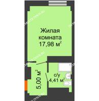 Апартаменты-студия 27,39 м², Апарт-Отель Гордеевка - планировка