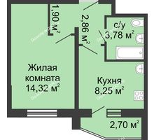 1 комнатная квартира 32,46 м² в ЖК Французский квартал, дом Корпус 6-11
