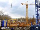 Ход строительства дома Литер 1 в ЖК Грин Парк - фото 3, Март 2021