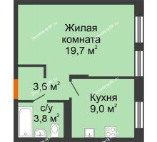 1 комнатная квартира 36,1 м² в ЖК Андерсен парк, дом ГП-2 - планировка
