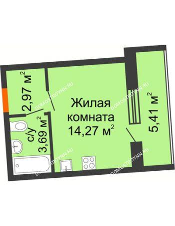Студия 23,64 м² в ЖК АВИА, дом № 2