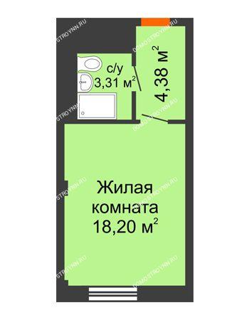 Студия 25,89 м² - Апарт-Отель Гордеевка