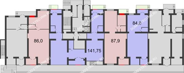 Планировка 1 этажа в доме № 1 в ЖК Удачный